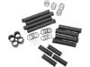 Drag Specialties Satin Pushrod Tube Kit, Black