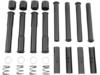 Drag Specialties Black Satin Pushrod Tube Kit