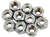 "Drag Specialties 1/4"" -20 Nylon Insert Nut Assortment, Chrome"