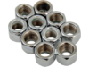 "Drag Specialties 3/8"" -24 Nylon Insert Nut Assortment, Chrome"