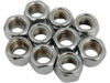 "Drag Specialties 7/16""-14 Nylon Insert Nut Assortment, Chrome"