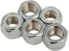 "Drag Specialties 5/8""-18 Nylon Insert Nut Assortment, Chrome"