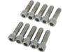 "Drag Specialties 1/4""-20 x 7/8"" Coarse-Thread Socket-Head Bolt, Chrome"
