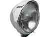 "Drag Specialties 5 3/4"" Chrome Headlight Assembly w/ Built-in Visor"