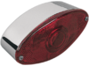 """Drag Specialties 1 7/8"""" D,2 3/8"""" H,5' W Cat Eye LED Taillight, Chrome"""