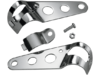 Drag Specialties Side-Mount Headlight Brackets, Chrome