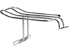 "Drag Specialties 9"" L x 6"" W Fender Luggage Rack, Chrome"