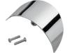 Drag Specialties Front/Rear Turn Signal Visor, Chrome
