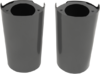 "Drag Specialties ( +2"" ) Custom Replacement Fork Slider Covers, Black"