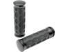 Drag Specialties Custom Rubber Grips, Black