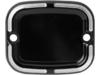 Arlen Ness Front Master Cylinder Cover, Slot Track - Black