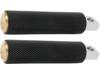 Arlen Ness Fusion Footpegs, Knurled - Brass