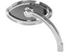 Arlen Ness Left Beveled Cats Eye Short Stem Billet Mirror, Chrome  13-131