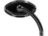 Arlen Ness Right Beveled Cats Eye Short Stem Billet Mirror, Black