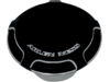 Arlen Ness Vented Gas Cap, Beveled - Black