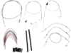 "Burly Brand Extended Cable/Brake Line Kit for 18"" Ape Hanger Handlebar"