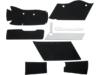 "Drag Specialties Saddlebag Lining Kit, 2.71"" Extended OEM-Style"