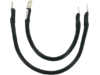 """Drag Specialties 12"""",16"""" Battery Cable Kit, Black"""