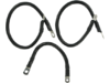 """Drag Specialties 16"""",9"""" Battery Cable Kit, Black"""