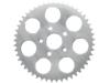 Drag Specialties 49T Rear Wheel Sprocket, Silver Zinc-plated