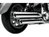 Cobra Scallop Tip Chrome Slip-On Mufflers